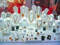 Products and jewelry from amber
