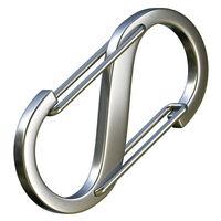 Steel S carabiner 3D