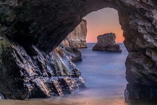 Sea Cave at Shark Fin Cove (Shark Tooth Beach).