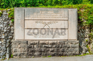Kobarid Slovenia italian military memorial Caporetto World War I landmark Europe