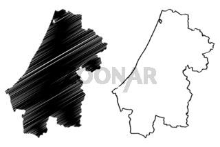 Rabat-Sale-Kenitra Region map vector