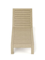 Empty wooden sun lounger