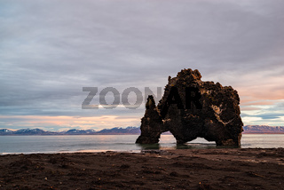 Hvitserkur in Iceland at sunrise