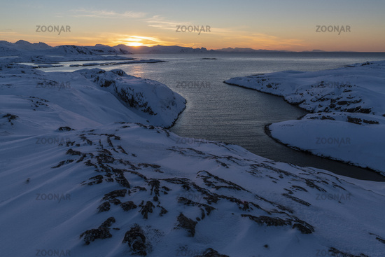 Evening mood, Hasvik, Soeroeya Island, Finnmark, Norway
