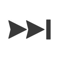 Skip Forward Fast Icon Vector