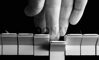 Hand of pianist