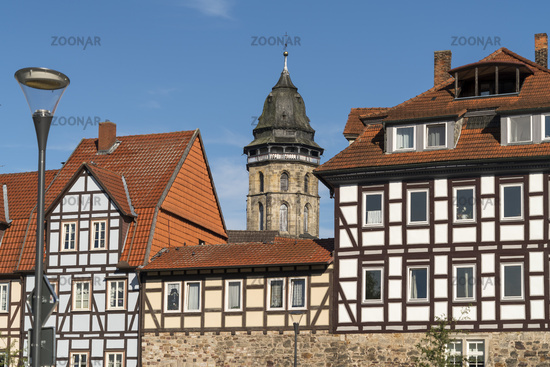 St. Blasius Church and half-timbered house in Hann. Münden