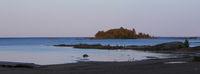 Blue hour in Vita Sannar. Lake Vanern.