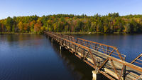 Pedestrian Bridge Lake Crossing Adirondack State Park New York