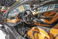 Cockpit of a Lamborghini Sian