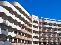 characteristic hotel architecture in Albufeira in Portugal