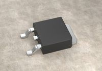 DPAK mosfet electronic transistor on surface 3d illustration