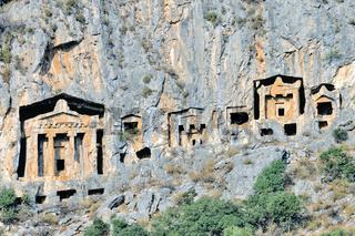 antike Felsengräber bei Dalyan