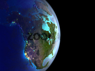 North America from space on Earth