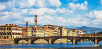 View of the historic center of Florence in Tuscany Italy