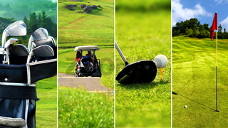 Golf picture collage
