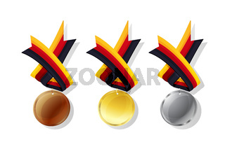 German vector medals set