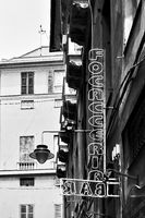 Focacceria - Bar sign in the street in Genoa