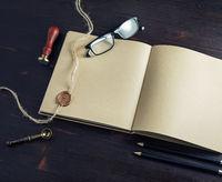 Sketchbook, retro stationery