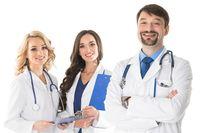 Portrait of doctors team