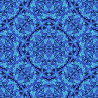 Unique Digital Ornate Leaves Motif Seamless Pattern