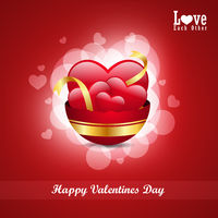 red love heart, valentines day concept