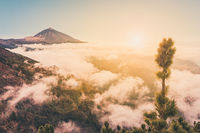 pico del teide, mountain above the clouds, Tenerife, Spain