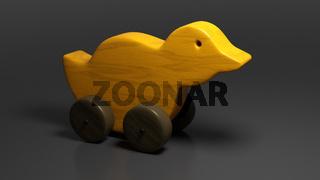 wooden toy duck