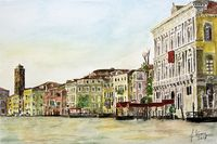 Venice, Canale Grande with view on the church San Geremia