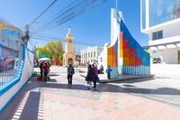 Bolivia Uyuni clock tower in the historic center