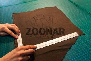 Fashion designer is preparing patches