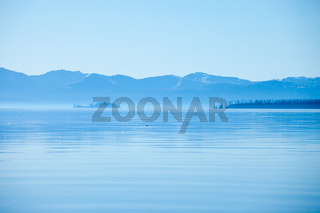 Beautiful Yellowstone Lake in Yellowstone National Park
