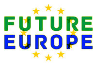 The future is Europe. Anti brexit logo.