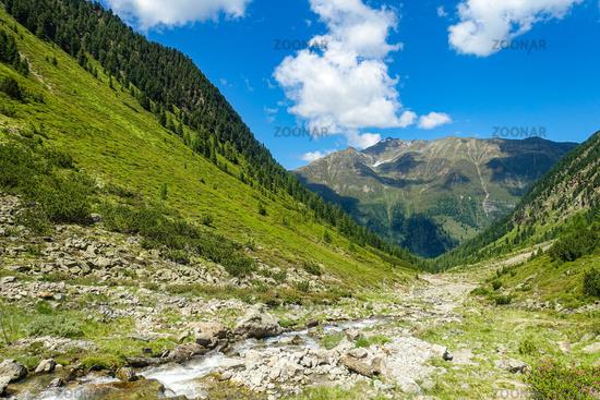 Mountain stream in the high mountains, Ötztaler Alps