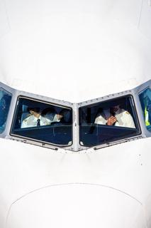 Cockpit Lufthansa Airbus airplane