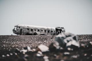 Iceland Lonely DC-3 Plane Wreckage Aviation Landscape