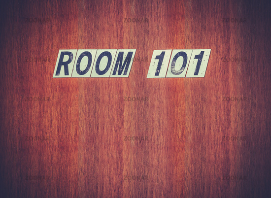 Room 101 Fear Concept