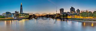 Panorama von London und der Themse
