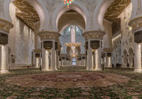 Prayer room, Sheik Zayed  Mosque, Abu Dhabi, Emirates
