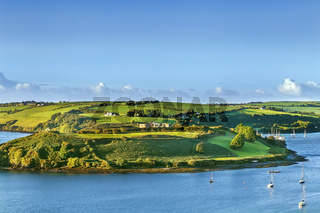 View of green hill, Kinsale, Ireland