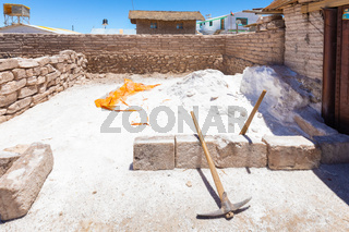 Bolivia Colchani place of salt processing