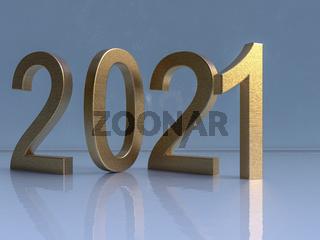 Jahreswechsel 2021, goldene Ziffern