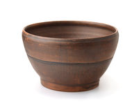 Old rustic clay bowl