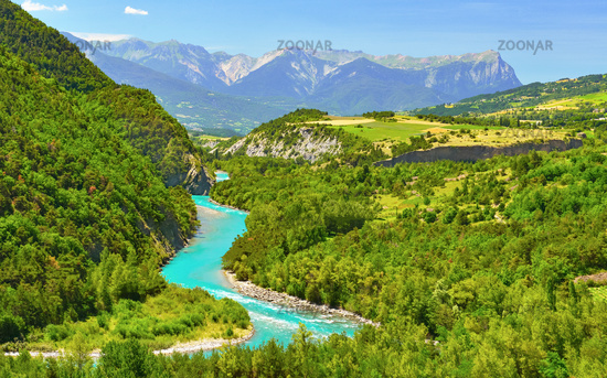 Mountain river in France