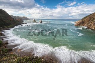 El silenio beach, Cudillero, Asturias, Spain.