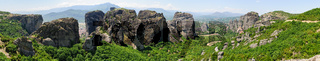 Panorama of Meteora, Greece
