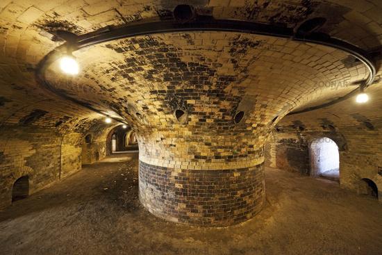 Ring furnace, combustion channel, Brickyard Museum, Lage, North Rhine-Westphalia, Germany, Europe