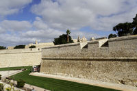 historic old town of Mdina - double city wall