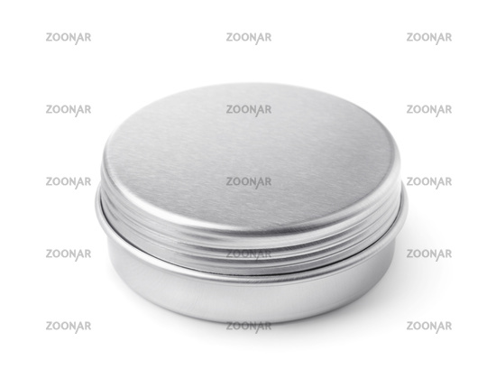 Closed blank metal round container