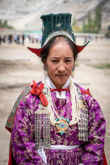 Ethnic Indian on festival in Ladakh